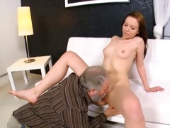 grabbing her old paramours cock, this gorgeous