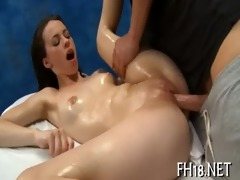 sexy 18 year old chick gets fucked hard