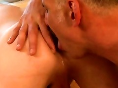 a twink gets an ass licking from his dad