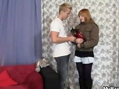 slut cheating her bf with his younger brother