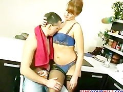 russian mature getting drilled by young boy