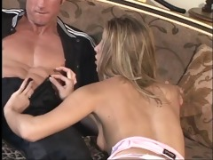 golden-haired let&s an older man smack her