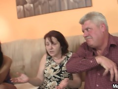innocent hotty is seduced by granny and screwed