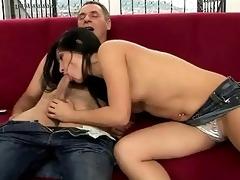 older man and teen enjoying sexy sex