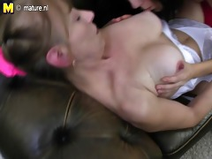 hairy granny drilled by juvenile girl