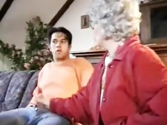 older lady copulates juvenile guy