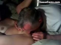 grandpa giving grandma great oral sex
