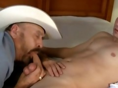 cowboy, older guy and youthful boy