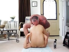 dad fucks guy bareback discharges in open hole