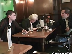 friends pick up and fuck boozed granny