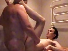 obese homosexual daddy slamms twinks constricted
