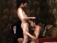 gay daddy disrobes and gets his schlong sucked by