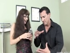 cream collector gets splattered with jizz