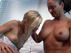 cute young blond with older lesbian