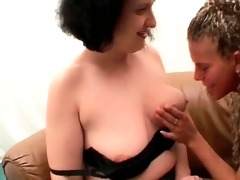 naughty mature floozy and her hawt younger ally