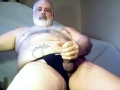 daddy bear jerking off it