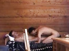 older gay stud and young boi fucking on
