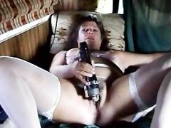 aged bitch home alone selftape.