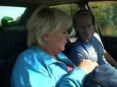 granny acquires drilled in the car