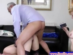 british chicks threeway fun with old man