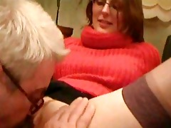 old man having sex with his youthful nurse