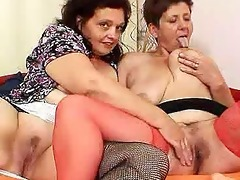 gray shorthaired mother lesbo games