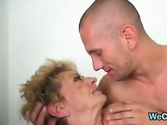 horny grandma with a hairy pussy