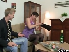 wicked granny jumps on stiff meat