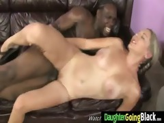 young daughter acquires pounded by large dark