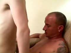 toyboy loves to serve daddy bare