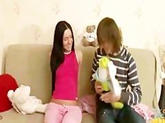 tiny slim teen sister tina family sex with step