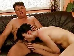 pretty girl has nasty sex with grandad