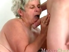 older female gets young cock