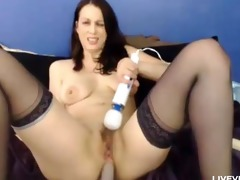 horny hawt mom rose fingers her curly cum-hole