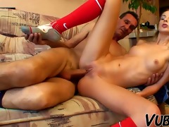 hot russian blond bonks with old man !!