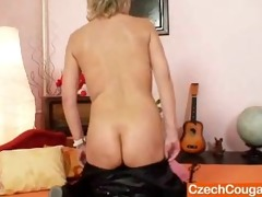 good-looking mistress wife performs strange