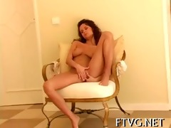 girl fondles soaked bawdy cleft