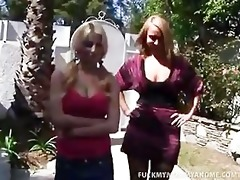 mother and daughter share a hard wang to kill