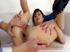 nice russian gal fucked by horny boy