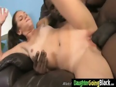 young daughter with fine butt screwed by a black