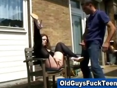 old guy oral-job by hot younger sweetheart