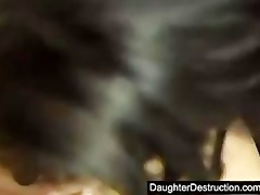 juvenile daughter raw fucked in backseat