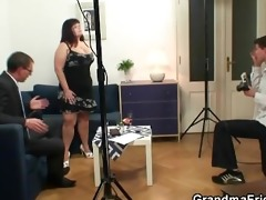 overweight bitch getting double fucked after
