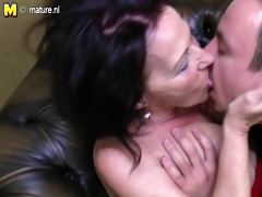 old granny drilled by her juvenile boy