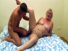 aged lady drilled by younger dude - intensive