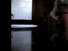 brother caught jerkin in bathroom