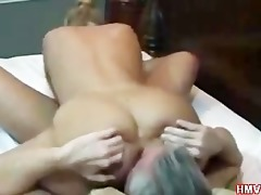 large booty golden-haired non-professional sucks