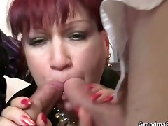 office wench swallows two weenies