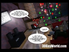 christmas homosexual comic story - 3d anime
