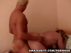 plump non-professional mature wife fucked by a